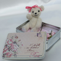 Penny - Bear with Travel Tin 3.5 inches (9cm)
