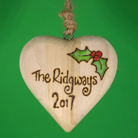 Personalised Family Christmas tree ornament