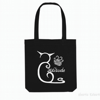 Pawsitive Cattitude Organic Reusable Tote bag