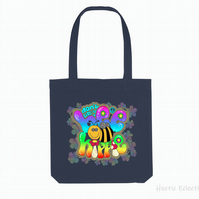 Don't Worry Bee Hippie Organic Reusable Tote bag