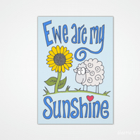 Ewe are my sunshine card