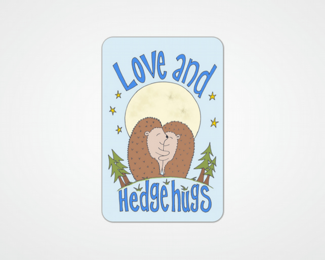 Love and Hedgehugs - cuddly hedgehogs in love wallet card