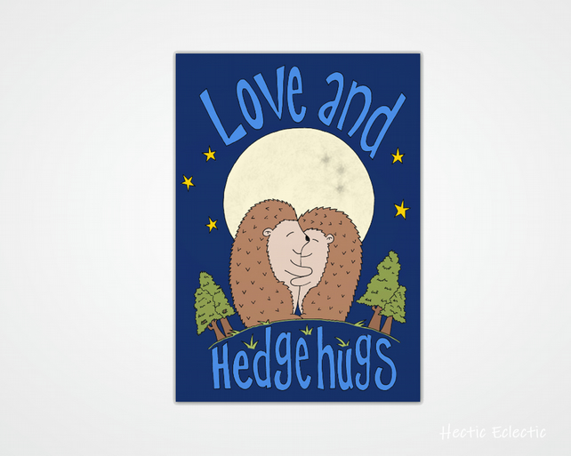 Love and hedgehugs card