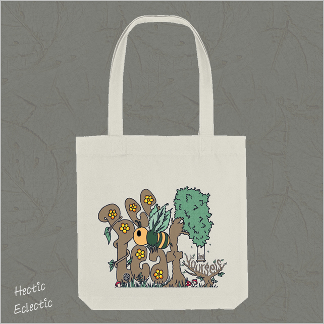 BeeLeaf in Yourself Organic Reusable Tote bag
