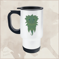 Green Man travel mug