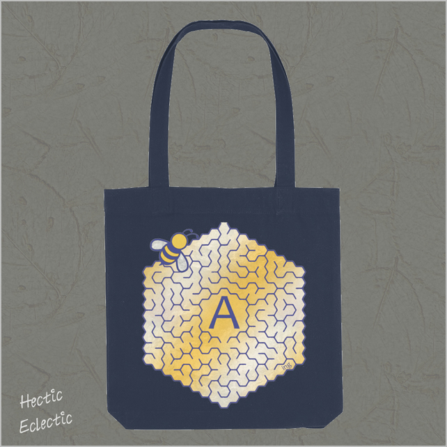 Bee Amazing Midnight Blue Tote bag