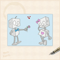 Robots in Love card