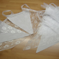 Lace Bunting White Fabric100ft 30metres SPECIAL OFFER
