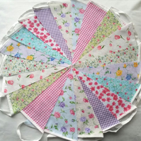 Bunting 200ft 60metres single sided shabby chic Wedding party multi floral