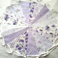 SALE Bunting 200ft 60metres single sided shabby chic Wedding party Lilac
