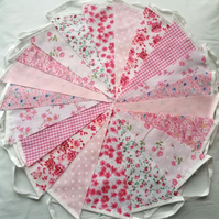 SALE Bunting 200ft 60metres single sided shabby chic Wedding party Pink