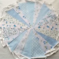 SALE Bunting 200ft 60metres single sided shabby chic Wedding party Blue