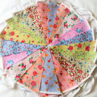 Bunting 80ft 24 metres single ply shabby chic Wedding party multi floral 80