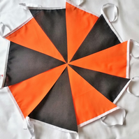 Bunting Halloween 10ft 3 meters Orange Black Single ply Door decor Party
