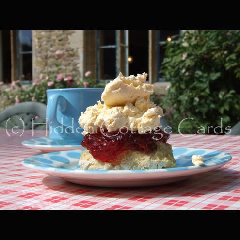High Tea - A5 photo greetings card - cream tea