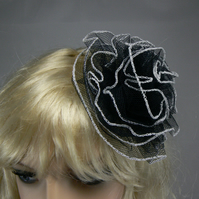 Black net hair accessory