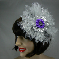 Silver flower Hair accessory