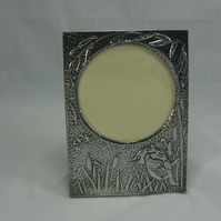 kingfisher pewter photo frame