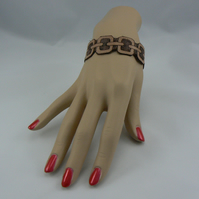 Pyrographed leather bracelet (chain)