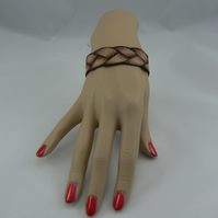 pyrographed leather  bracelet (plait)