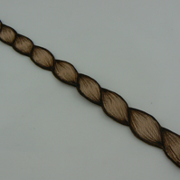 Pyrographed leather bracelet (rope)