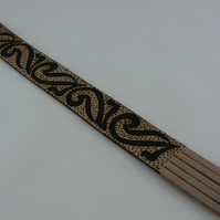 Pyrographed bookmark (tattoo)