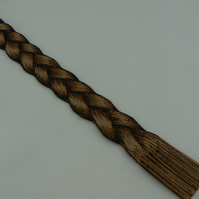 Pyrographed leather book mark (plait)