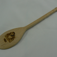 Wooden spoon with Virgo star sign (pyrographed)