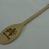 Wooden spoon with Sagittarius star sign (pyrographed)