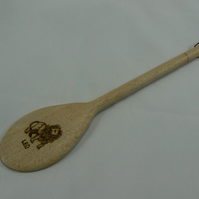 Wooden spoon with Leo star sign (pyrographed)