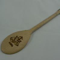 Wooden spoon with Libra star sign (pyrographed)