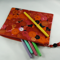 buttons print pencil case