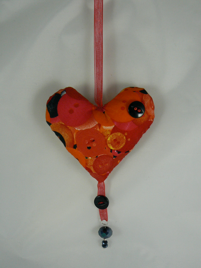 Heart Door hanger (button print)
