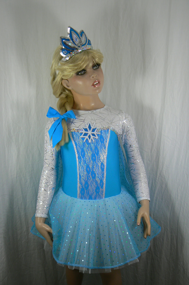 Frozen inspired child's costume with tiara