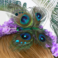 Butterfly on Buddleia  Hairband