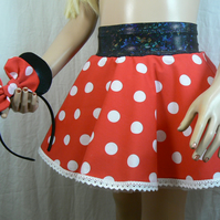 Minnie mouse inspired skirt and headband ears