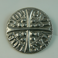 Pewter brooch ( longcross coin)