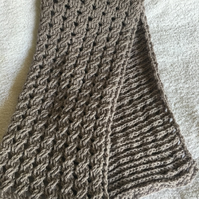 TBY 1 Aran Cable Scarf crochet patten