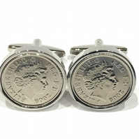 11th Anniversary Steel Wedding Anniversary 2009 coin cufflinks - for a wedding i