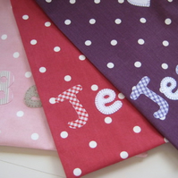 Personalised Girl's Dotty Gym Bags