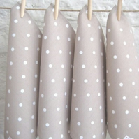 Taupe Dotty Napkins - Set of 4