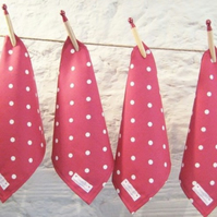 Red Dotty Napkins - Set of 4