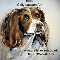 Gun-dog commissioned painting