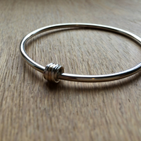Slave bangle with Slider (sterling silver with a touch of 9ct gold )