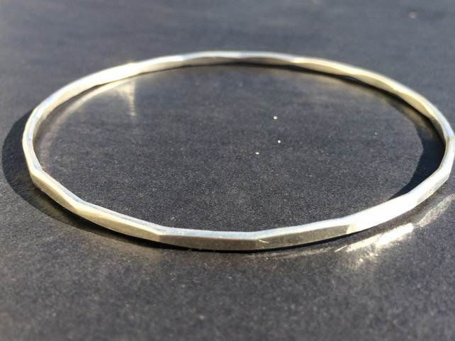 Essential Hammered Sterling Silver Bangle