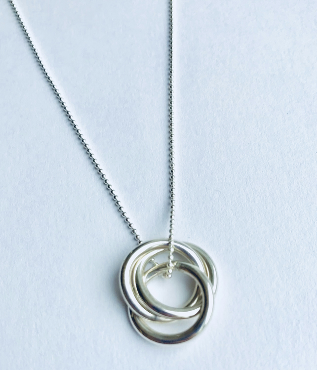 Silver Infinity Ring Necklace