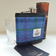 Harris Tweed Covered Hip Flask