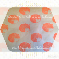Fantastic Mr Fox Gift Wrap with Tags and Twine