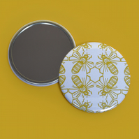Bee Print Pocket Mirror