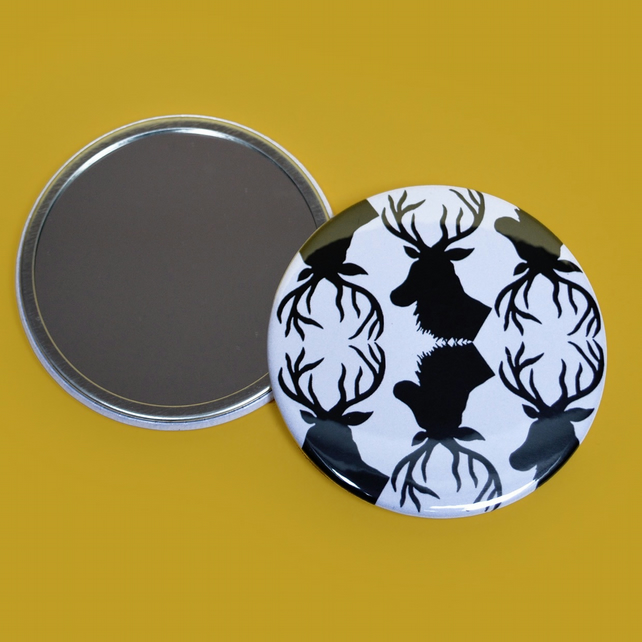 Stag Print Pocket Mirror